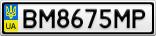 Номерной знак - BM8675MP