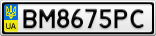 Номерной знак - BM8675PC