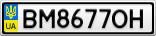 Номерной знак - BM8677OH