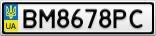 Номерной знак - BM8678PC