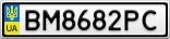 Номерной знак - BM8682PC