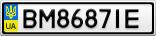 Номерной знак - BM8687IE