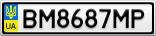 Номерной знак - BM8687MP
