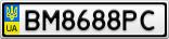 Номерной знак - BM8688PC