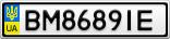 Номерной знак - BM8689IE