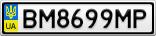 Номерной знак - BM8699MP