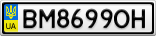 Номерной знак - BM8699OH