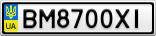 Номерной знак - BM8700XI