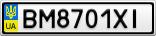 Номерной знак - BM8701XI
