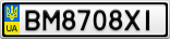 Номерной знак - BM8708XI