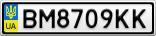Номерной знак - BM8709KK