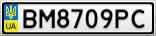 Номерной знак - BM8709PC