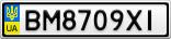 Номерной знак - BM8709XI