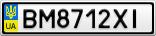 Номерной знак - BM8712XI