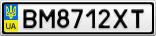 Номерной знак - BM8712XT