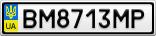Номерной знак - BM8713MP