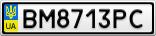 Номерной знак - BM8713PC