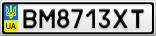 Номерной знак - BM8713XT