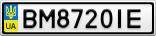 Номерной знак - BM8720IE