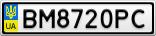 Номерной знак - BM8720PC