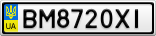 Номерной знак - BM8720XI