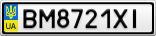 Номерной знак - BM8721XI