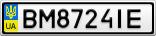 Номерной знак - BM8724IE