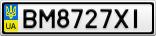 Номерной знак - BM8727XI