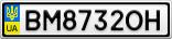 Номерной знак - BM8732OH