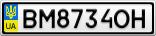 Номерной знак - BM8734OH