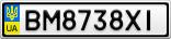 Номерной знак - BM8738XI