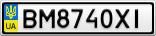 Номерной знак - BM8740XI