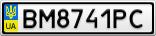 Номерной знак - BM8741PC