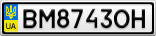 Номерной знак - BM8743OH