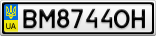 Номерной знак - BM8744OH