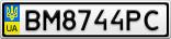 Номерной знак - BM8744PC