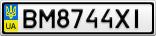 Номерной знак - BM8744XI
