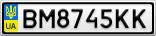 Номерной знак - BM8745KK