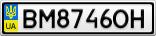 Номерной знак - BM8746OH