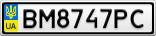 Номерной знак - BM8747PC