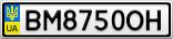 Номерной знак - BM8750OH