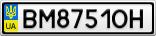Номерной знак - BM8751OH