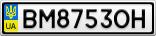 Номерной знак - BM8753OH