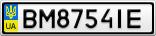 Номерной знак - BM8754IE