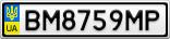 Номерной знак - BM8759MP