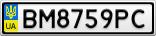 Номерной знак - BM8759PC