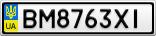 Номерной знак - BM8763XI