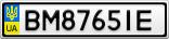 Номерной знак - BM8765IE
