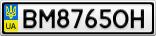 Номерной знак - BM8765OH