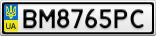 Номерной знак - BM8765PC